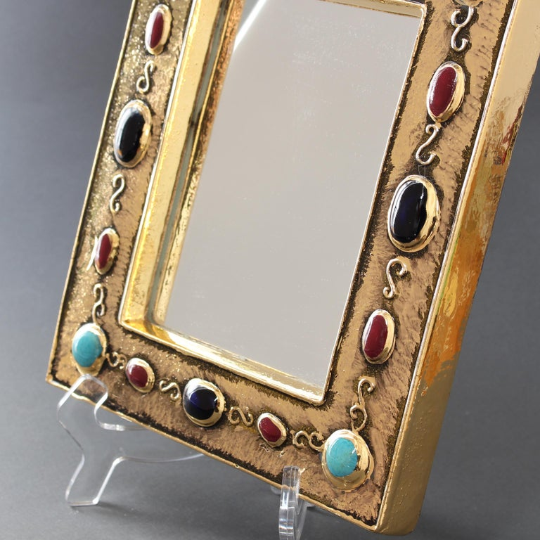 Ceramic Wall Mirror by François Lembo, circa 1960s-1970s For Sale 9