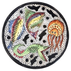 Ceramic Wall or Decorative Plate Fishes Design