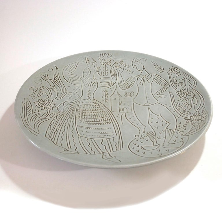 Large ceramic wall plate.