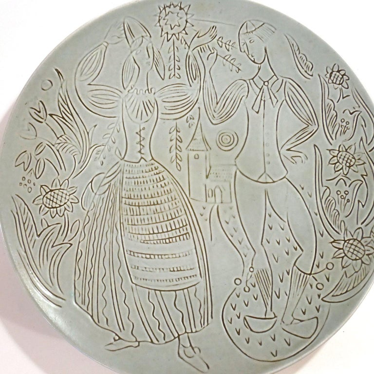 Swedish Ceramic Wall Plate, Design Carl-Harry Stålhane for Rörstrand For Sale