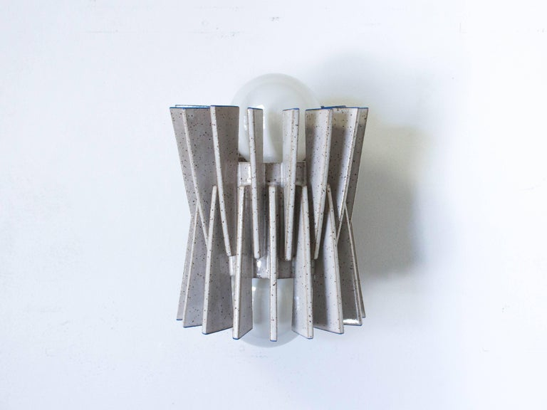 American Ceramic Wall Sconce by Ben Medansky For Sale