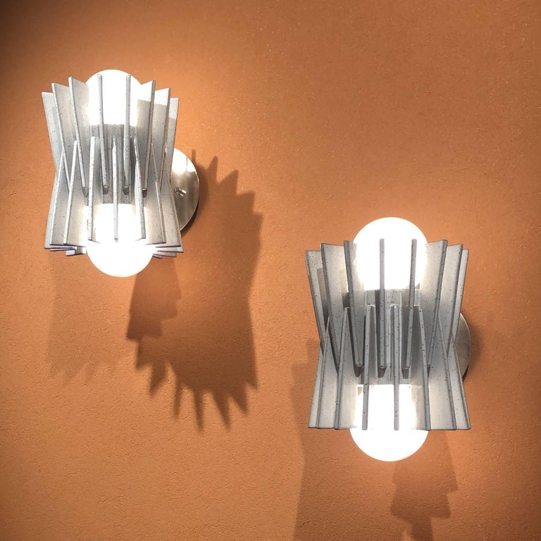 Bauhaus Ceramic Wall Sconce by Ben Medansky For Sale