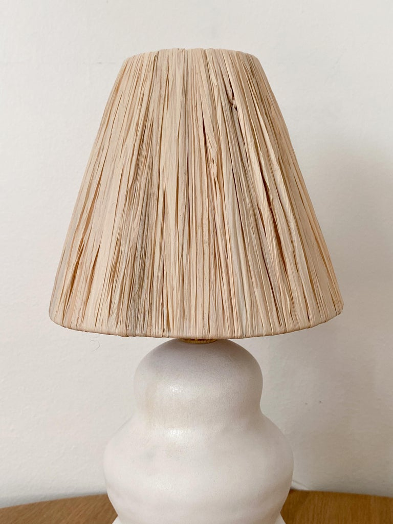 Hand-Crafted Ceramic Wave Lamp For Sale