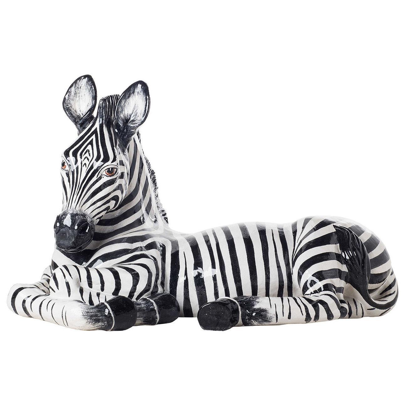 Ceramic Zebra Statuette