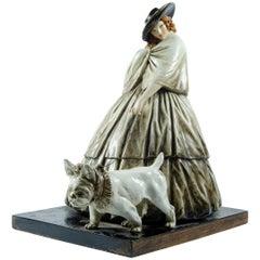Ceramica Cacciapuoti Dama con Bulldog
