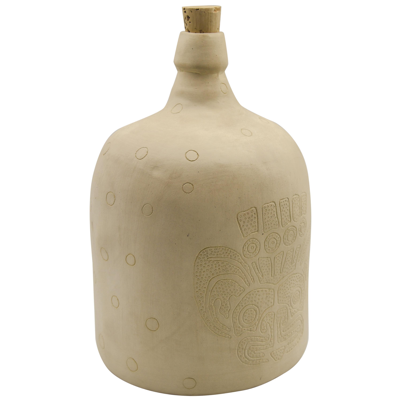 Ceramica Demijohn Bottle Mexican Mezcal Container