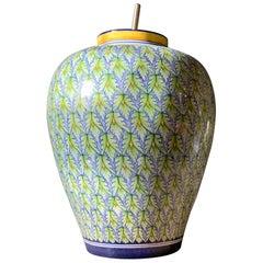 Ceramiche d'Arte Pascal Hand Painted Italian Ceramic Porcelain Modern Lamp Base