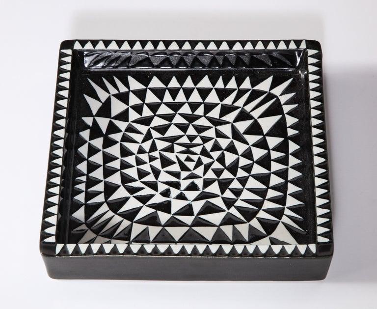 Ceramics by Stig Lindberg, Scandinavian Midcentury, circa 1950, Black and White For Sale 4