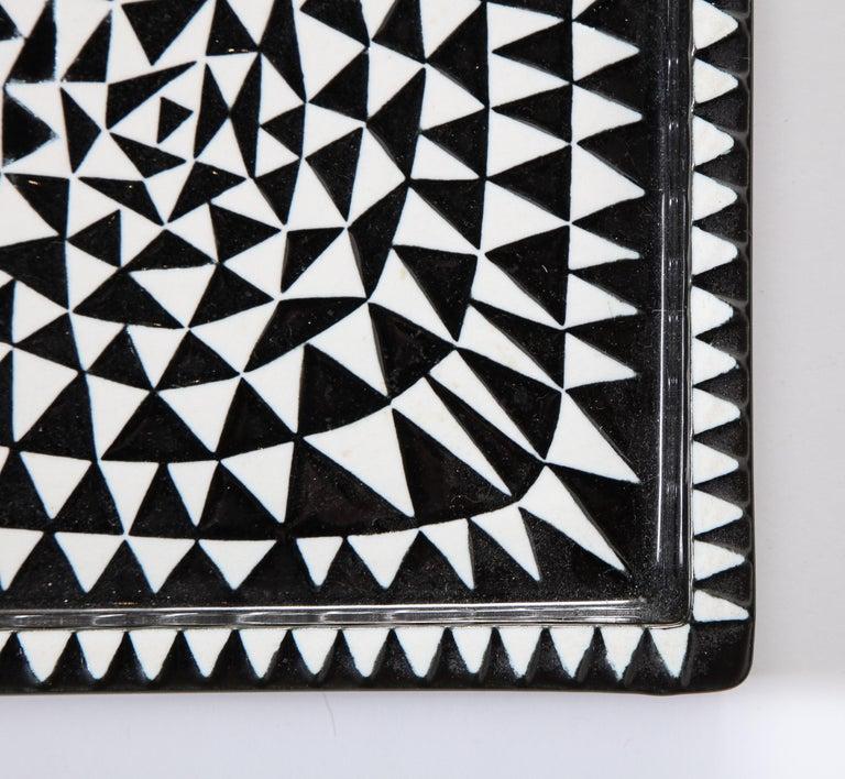 Ceramics by Stig Lindberg, Scandinavian Midcentury, circa 1950, Black and White For Sale 2