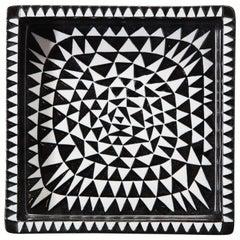 Ceramics by Stig Lindberg, Scandinavian Midcentury, circa 1950, Black and White