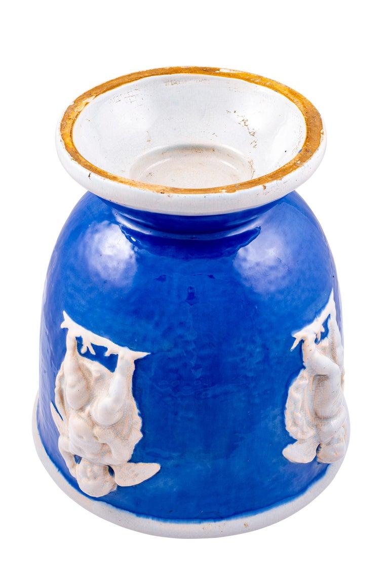 Austrian Ceramics Vase with Winged Putti Michael Powolny Wienerberger, circa 1916-1917 For Sale