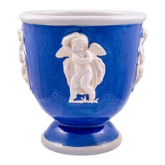 Ceramics Vase with Winged Putti Michael Powolny Wienerberger, circa 1916-1917