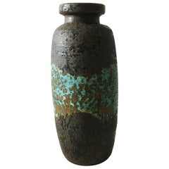 Ceramos Sculptural Lava Textured Vintage Floor Vase, Austria, 1970s
