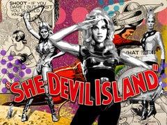 She Devil Island, 30x40, Resin coated,