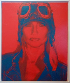 AVIATRIX Red and Blue Diamond Dust on Canvas