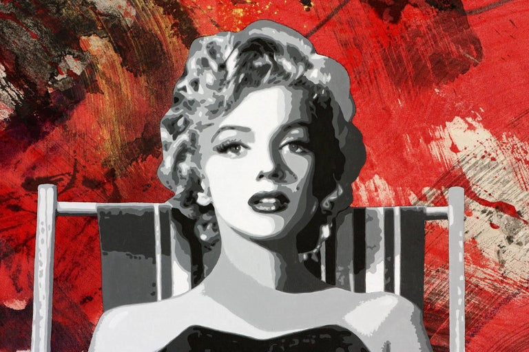 Painting the Town Red with Marilyn,  56x62,  For Sale 1
