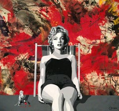 Ceravolo - Painting the Town Red with Marilyn,  56x62,