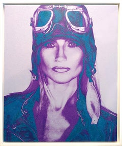 THE AVIATRIX ....lavender and Blue Diamond Dust on canvas