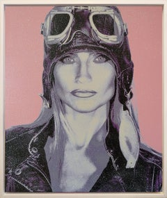 THE AVIATRIX.....Diamond Dust Violet Pink Gray on canvas