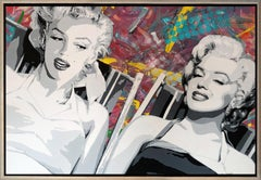 """ The Fabulous Monroe Twins""  Oil & Acrylic on canvas 46x66 original painting"