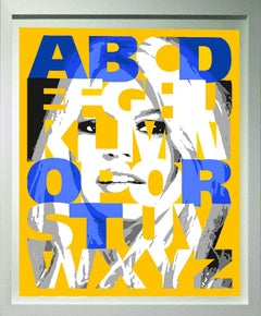 """Alphabet Bardot"" Yellow/Blue, 47x38"