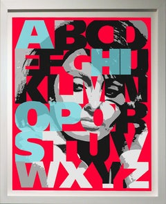 """Alphabet Sophia"" Aqua, 47x38"","