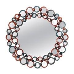 Cerchi Color Round Mirror by Ongaro & Fuga