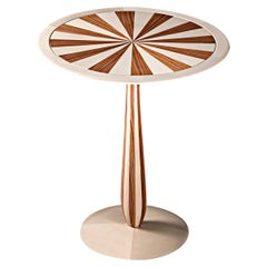 Cerchio Maple and Paduka Side Table by Ivano Colombo