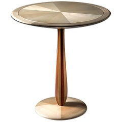 Cerchio Maple Side Table by Ivano Colombo