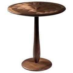 Cerchio Walnut Side Table by Ivano Colombo