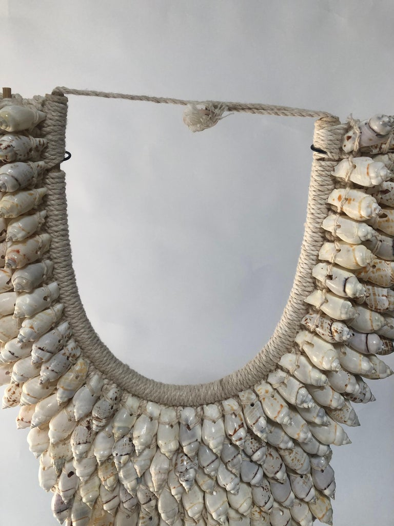 Ceremonial Shell Necklace on Stand In Excellent Condition For Sale In Dallas, TX