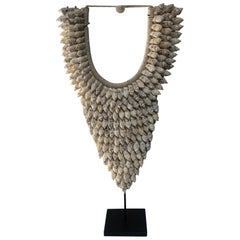 Ceremonial Shell Necklace on Stand