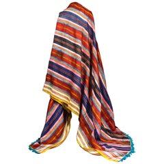 Ceremonial Silk Ribbons Shawl -Tunisia Circa 1900/1950