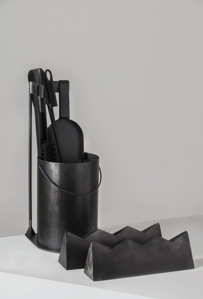 Ceremony Fireplace Tool Set, Designer Ambroise Maggiar, Made by Flli. Argiolas In New Condition For Sale In Santadi, SU