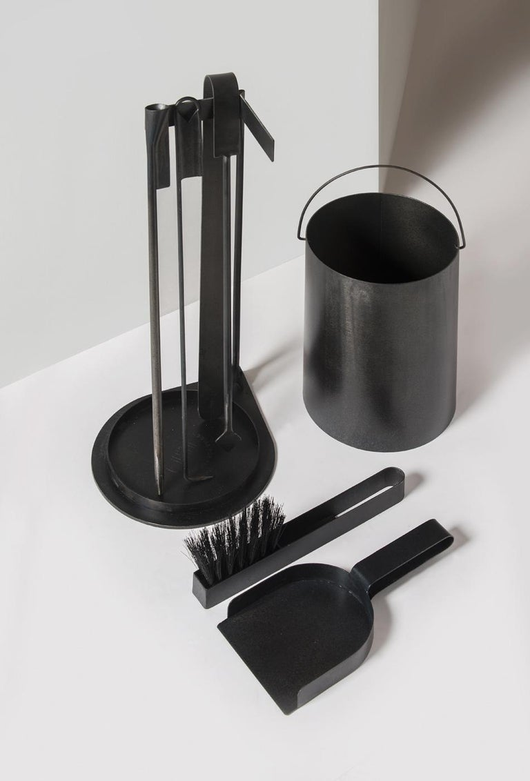 Minimalist Ceremony Fireplace Tool Set, No Andirons For Sale