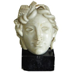 """Ceres,"" Fabulous Art Deco Marble Sculpture of Roman Goddess of the Harvest"