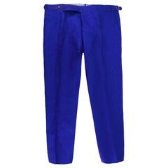 Cerrato Napoli Bespoke Blue Tailored Trousers estimated size L