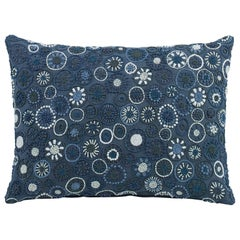 Cerritos Hand-Embroidered Accent Pillow in Dotted Pattern by CuratedKravet