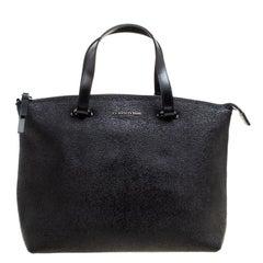 Cerruti 1881 Black Textured Leather Tote