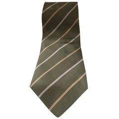 Cerruti 1881 green silk tie