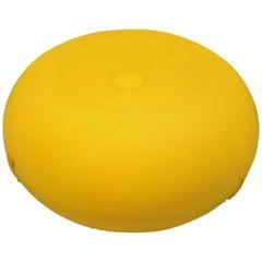 Cerruti Baleri Italia Tatone Round Pouf Ottoman in Yellow Italian Modern