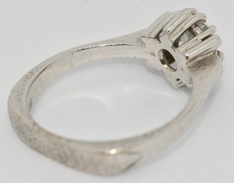 Round Cut Certified 1.01 Carat Flawless, Top Wesselton Diamond Solitaire, White Gold Ring For Sale