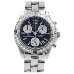 Certified 1.50 Carat Diamond Breitling Colt Chronograph Ocean Watch