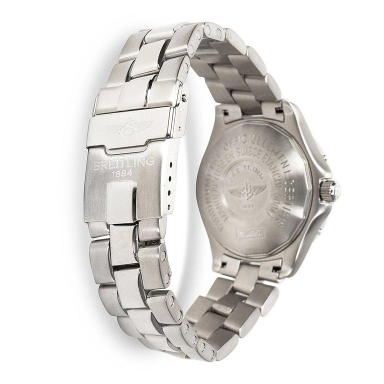 Certified 1.50 Carat Diamond Breitling Colt Chronometre Diver Watch In Excellent Condition For Sale In New York, NY