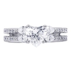 Certified 1.66 Carat Heart Shape Diamond Ring