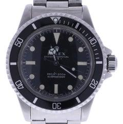 Certified 1965 Rolex Submariner 5513 Vintage Black Dial