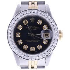 Certified 1984 Rolex Datejust 69173 Black Dial Women's Watch