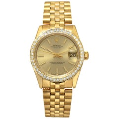 Certified 1986 Rolex Datejust 68278 Yellow Dial