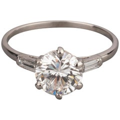 Certified 1.99 Carat E/SI1 Diamond Solitaire