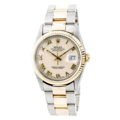Certified 1990 Rolex Datejust 16233 Ivory Dial